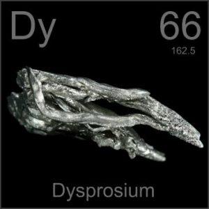 Dysprosium (Dy) : Penjelasan, Sifat Unsur dan Kegunaan