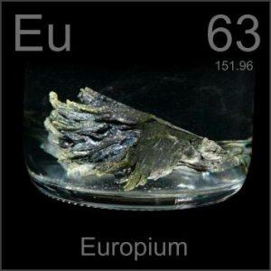 Europium (Eu) Sejarah, Sifat dan Kegunaan