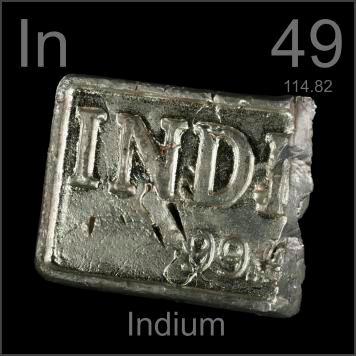 Indium (In) Pengertian, Sejarah, Sifat dan Kegunaan