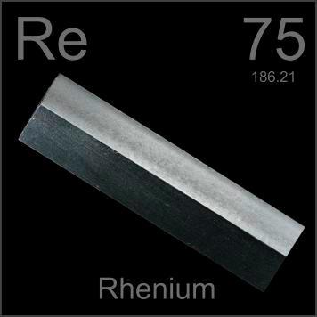 Rhenium | Renium (Re) : Unsur Kimia, Sifat dan Kegunaan