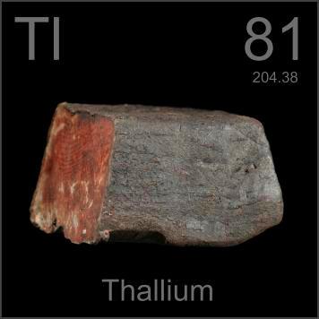 Thallium | Talium (Tl) : Unsur, Sifat, Kegunaan dan Dampak